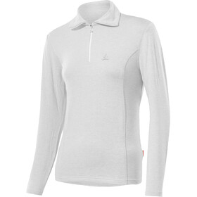 Löffler Basic Transtex Sweat-shirt Zip avec col Femme, white